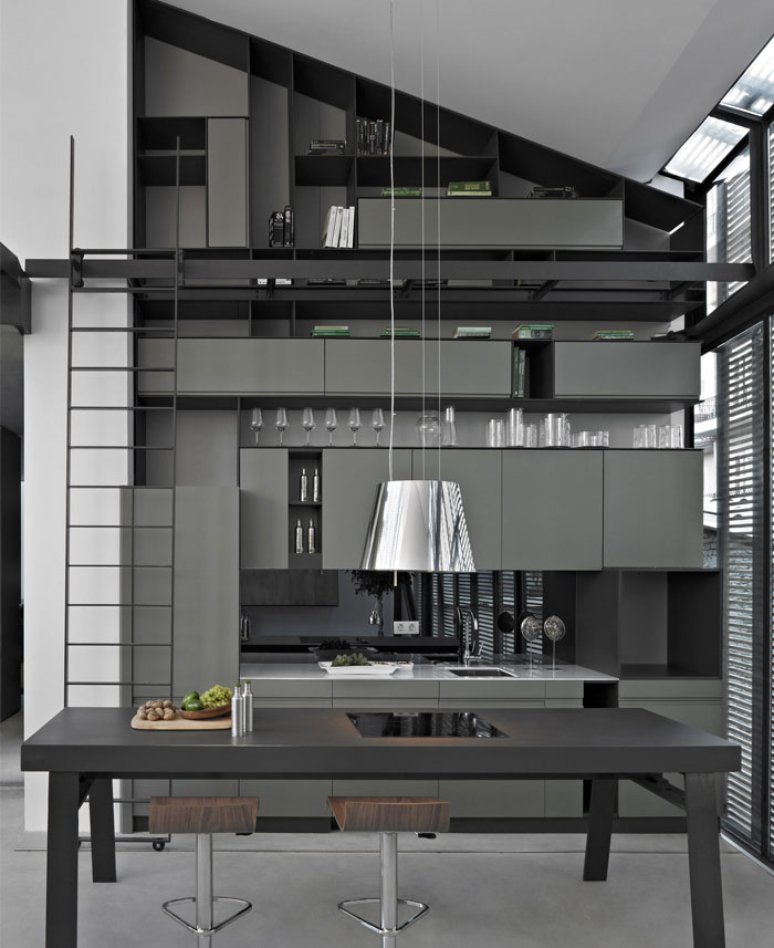 flat building kitchen interior