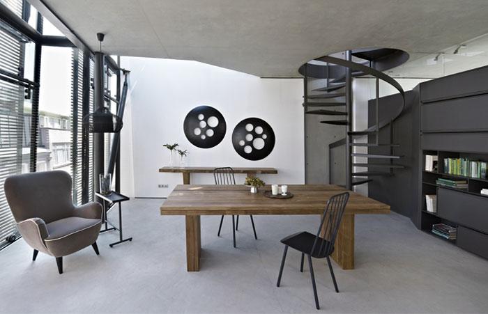 flat building loft interior