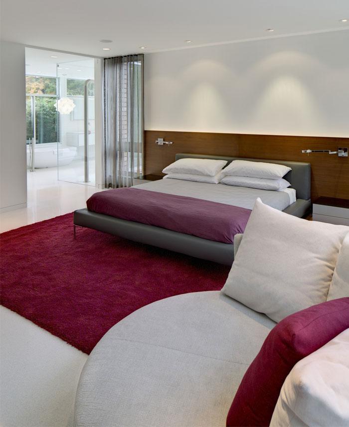 modern family residence bedroom