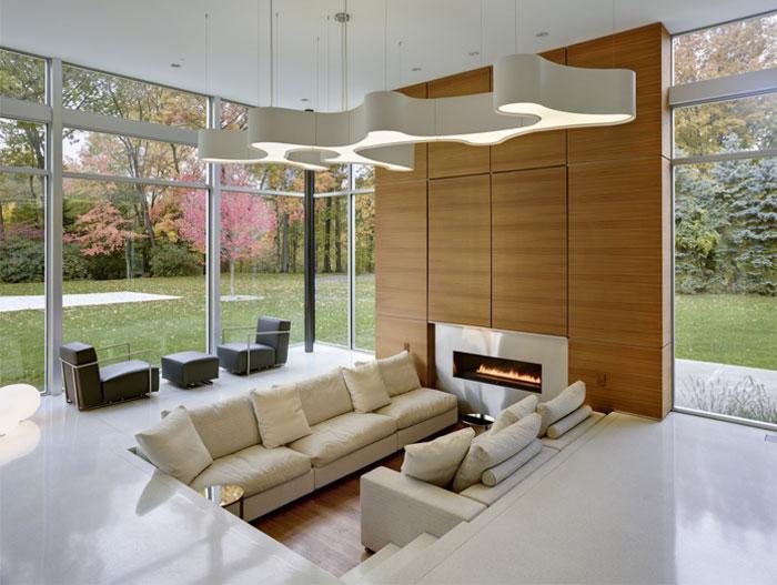 modern lifestyle family residence living room