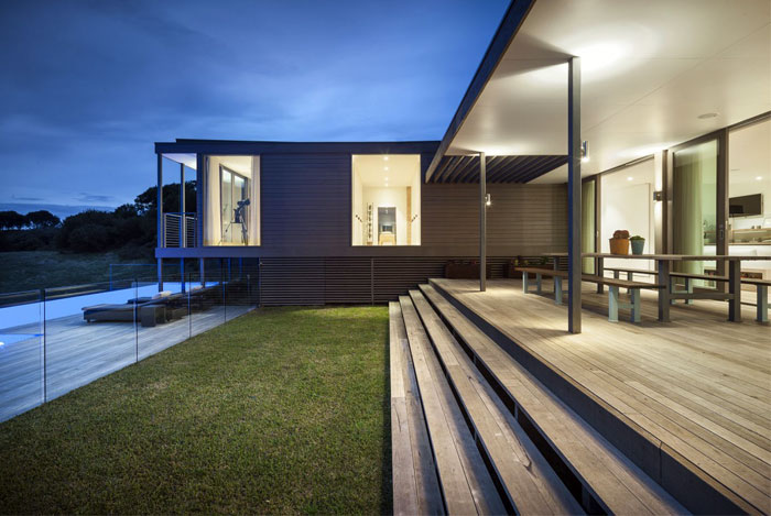 contemporary residence outdoor