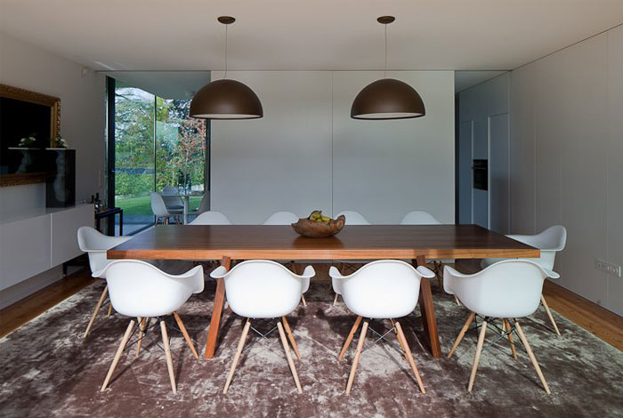 open space dining area
