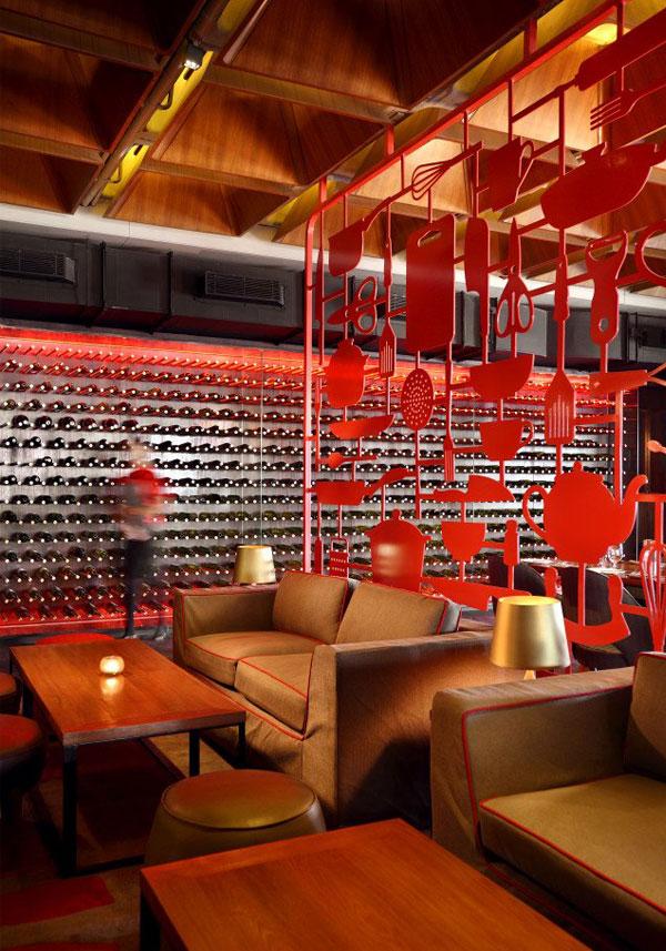 restaurant amazing red decor