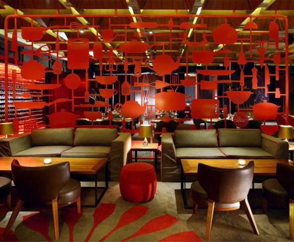 restaurant amazing red decor3