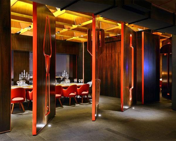 restaurant amazing red decor5