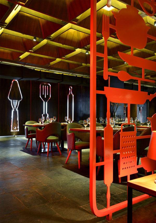 restaurant amazing red decor7