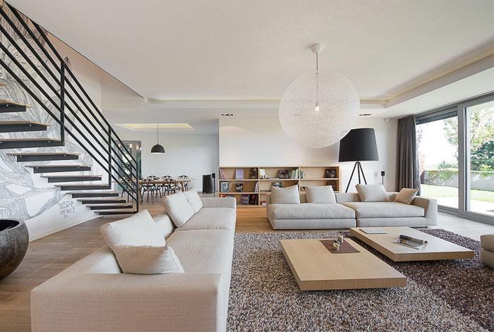 elegant interior of a duplex apartment interiorzine rh interiorzine com duplex house interior designs pictures duplex house interior design