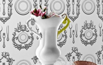wallcovering silhouettes victorian tableware 338x212