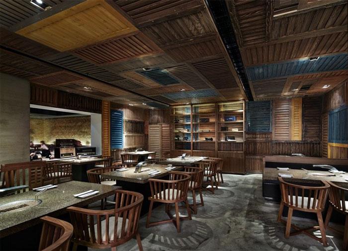 Japanese Barbecue Restaurant - InteriorZine