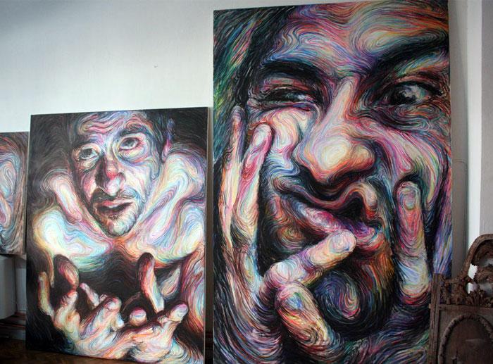 self portraits energetic paintings2