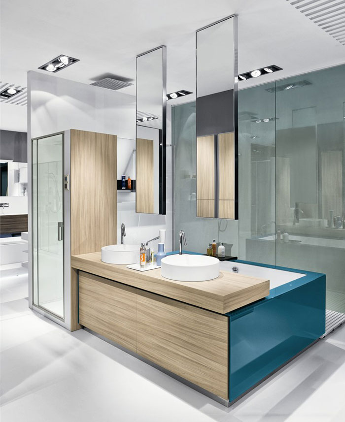 hang bathroom mirror bathroom furniture set by makro design interiorzine 13070