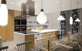 kitchen scandinavian furniture wallpaper lighting2 338x212