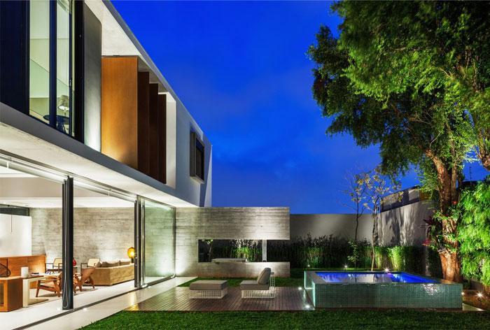 brazilian residence concrete walls3