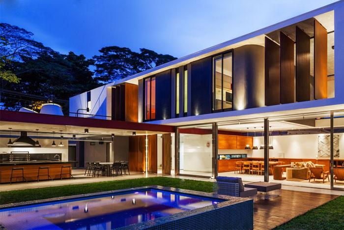 brazilian residence concrete walls5