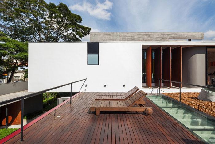 brazilian residence concrete walls6