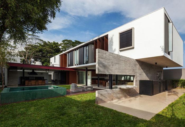 brazilian residence concrete walls7