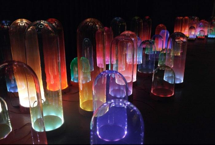 pastel coloured hand blown glass light3