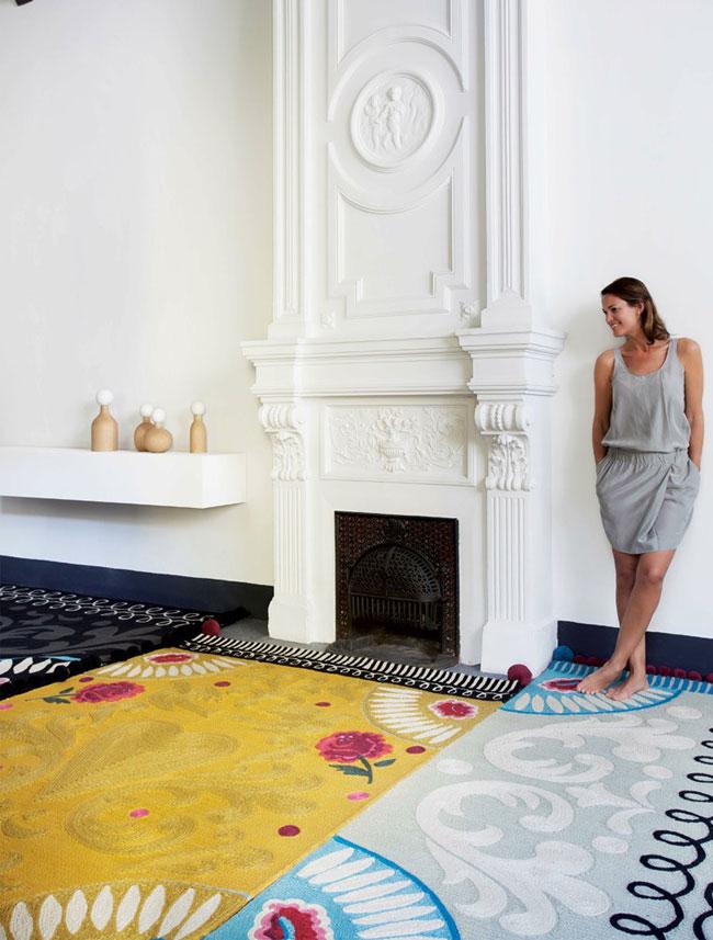 patterned handmade wool rug2
