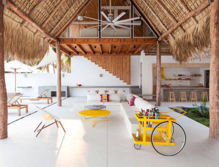 beach house living area