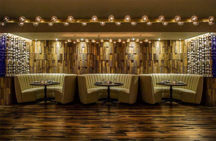 craftsmanship wood decor restaurant