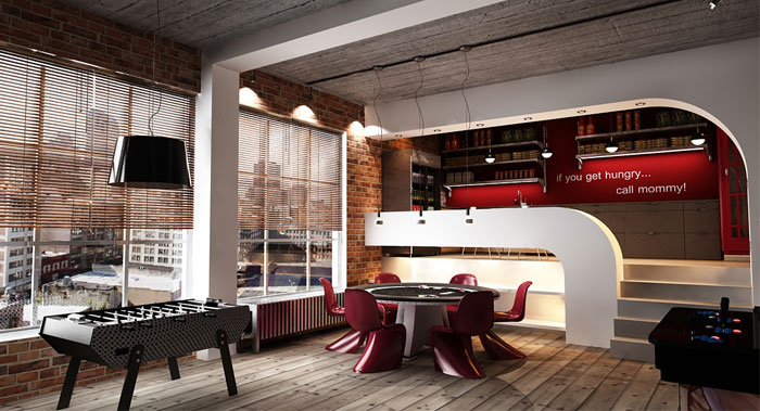 attic ideas tumblr - Urban Loft Interior Design by George Papos InteriorZine