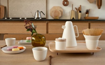 porcelain coffee set wooden tray 338x212