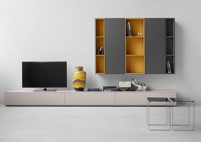 shelves delicate colors