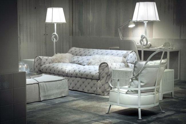 baxter furniture white leather sofa