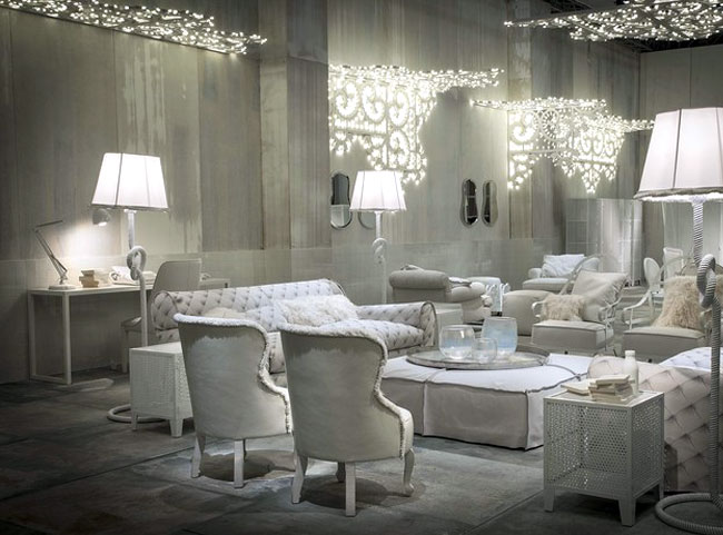 White Living Room Furniture And Decor Ideas By Paola Navone