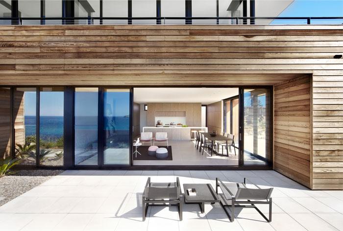 cedar cladded house exterior
