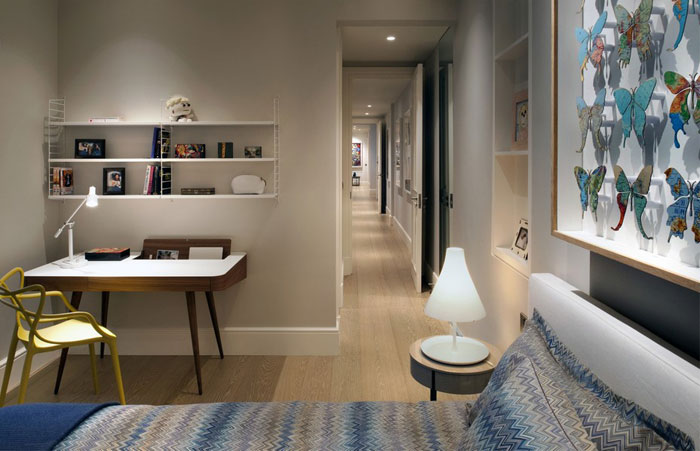 classical beige gray–whitish tonality bedroom