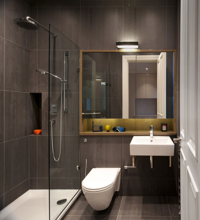 classical gray tonality bathroom