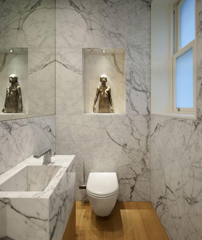 clean classical lines bathroom