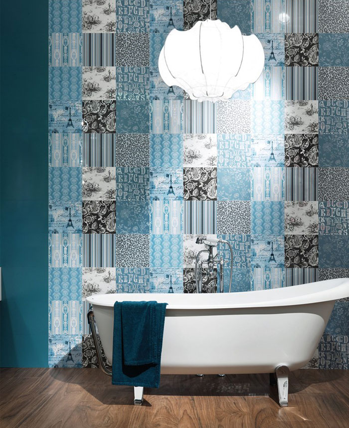 colour trend bathroom wallcovering