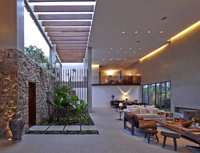 concrete walls floors indoor garden