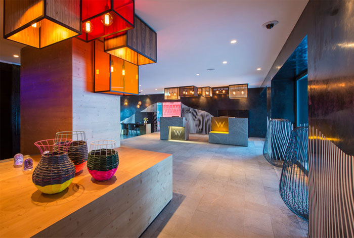 contemporary cozy retreat hotel loby