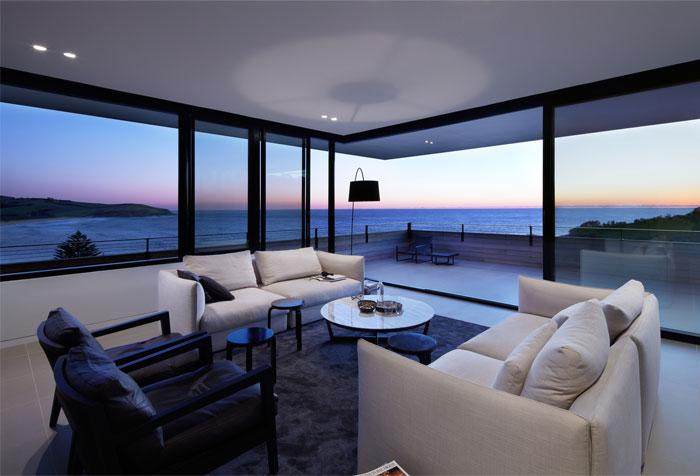 elegant interior breathtaking ocean view