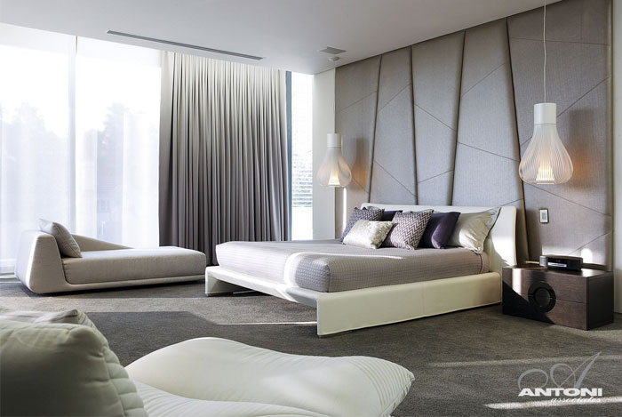 glamor style bedroom interior