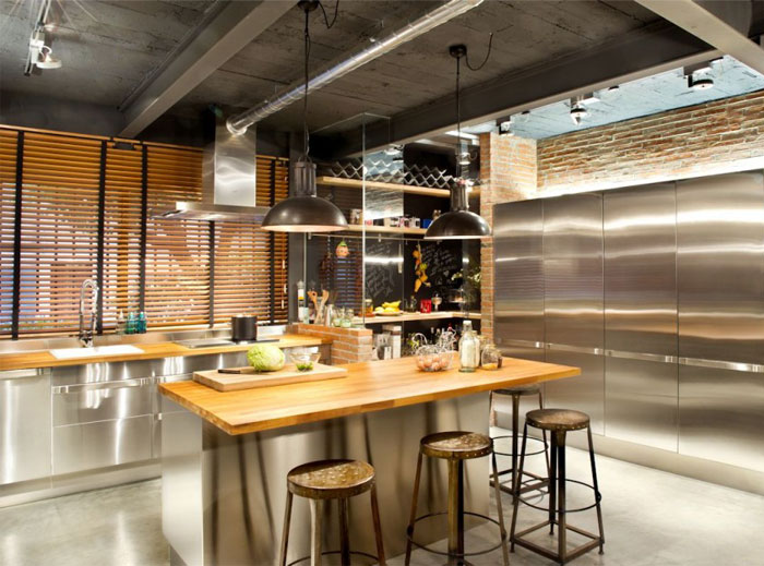 kitchen chrome appliances
