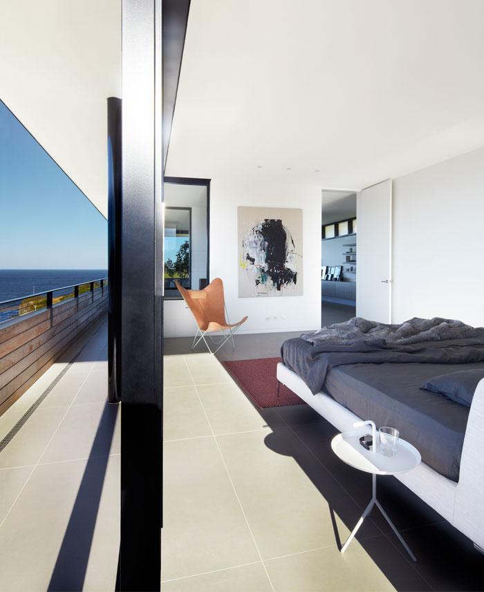 large walls glass bedroom