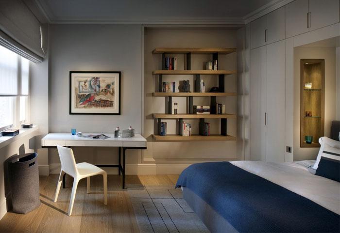modern earthly look bedroom