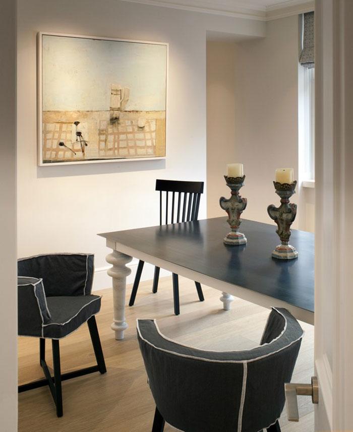 modern look dining area