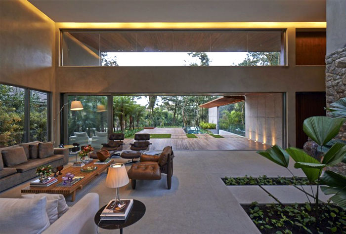 open interior living room