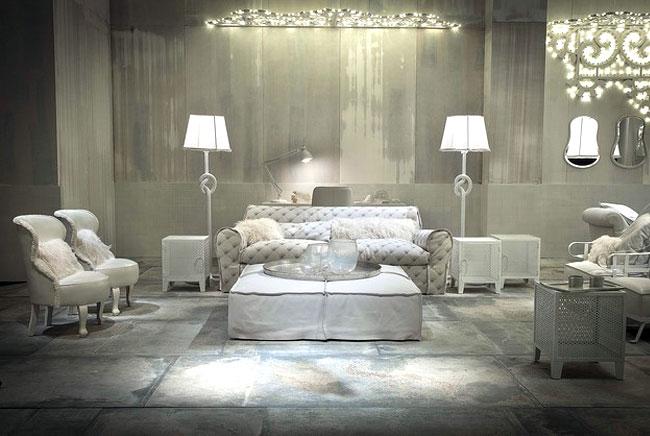 printed leather sofa ottoman