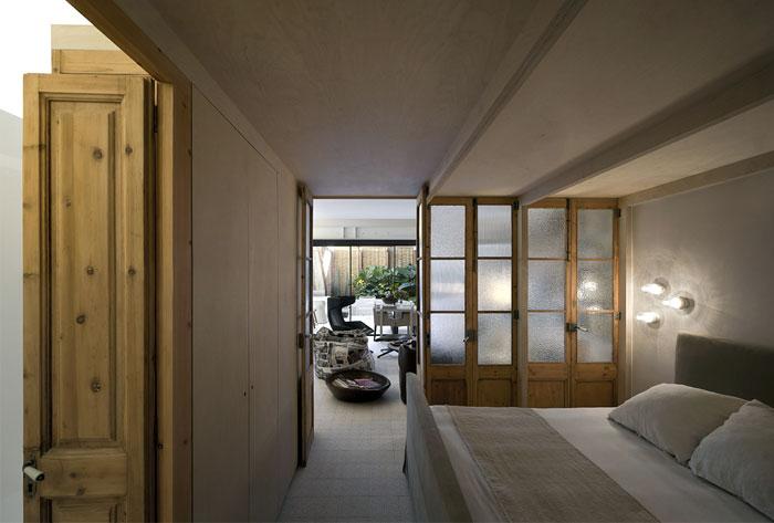 renovated-space-wooden doors-bedroom