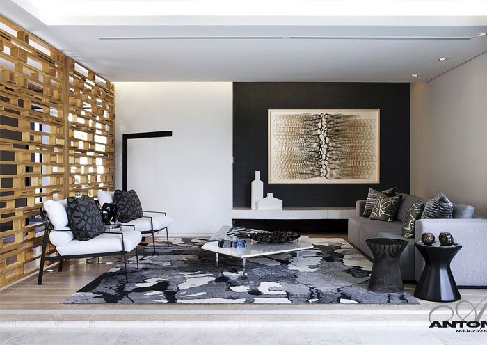 strong graphic rugs living room decor