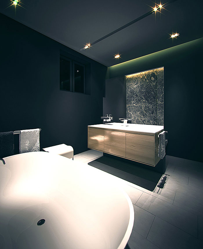 bathroom design urban apartment