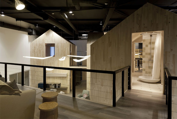 little wood houses design showroom
