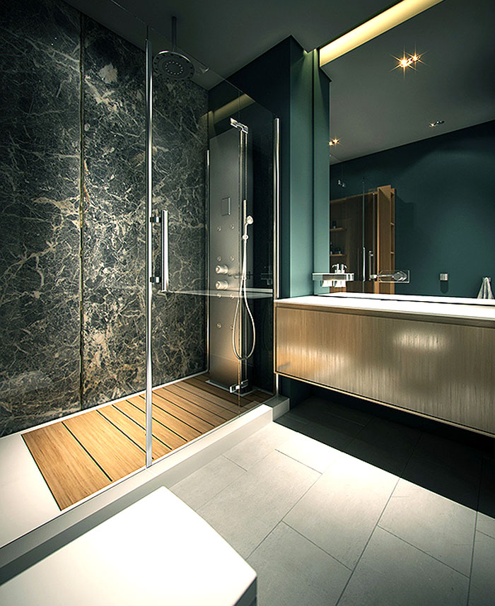 stylish elegance bathroom design apartment