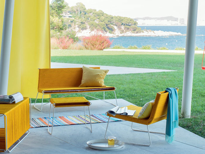 sunny yellow outdoor collection